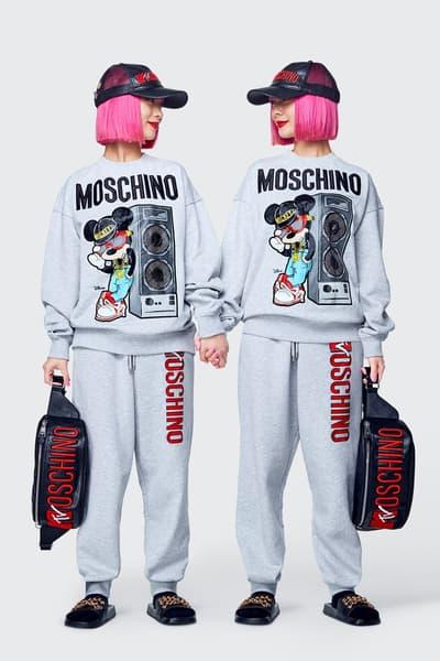 Moschino H&M Collection Lookbook Ami Aya Sweatshirt Sweatpants Grey
