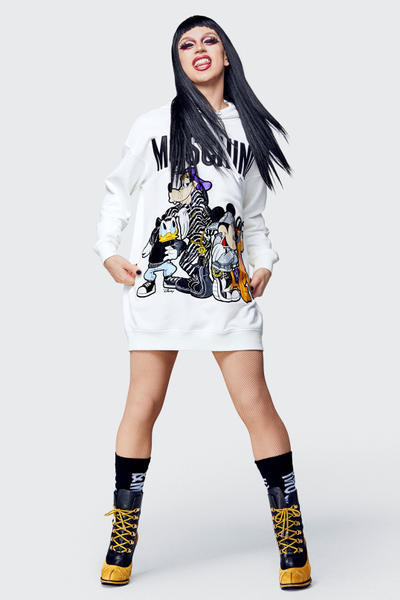 Moschino H&M Collection Lookbook Sweater White