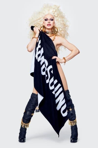Moschino H&M Collection Lookbook Aquaria Towel Black White