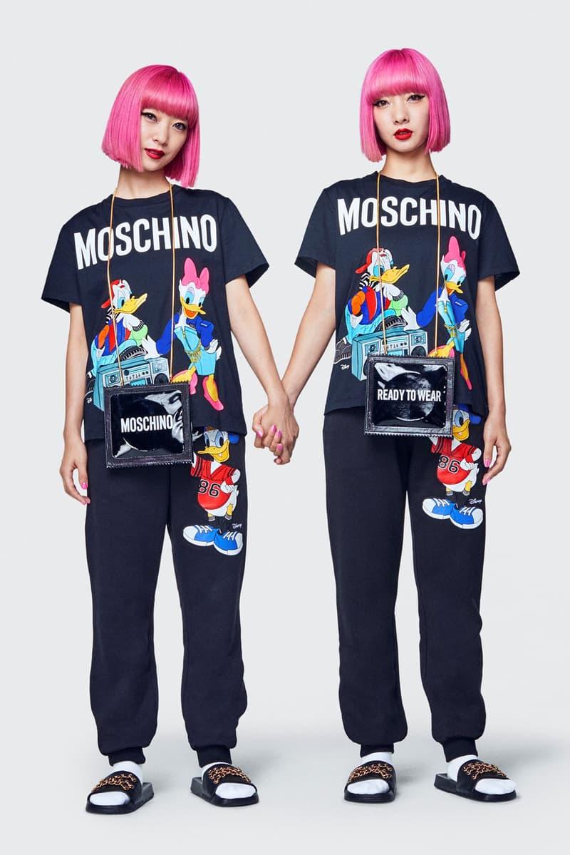 Moschino H&M Collection Lookbook Ami Aya T-shirts Sweatpants Black