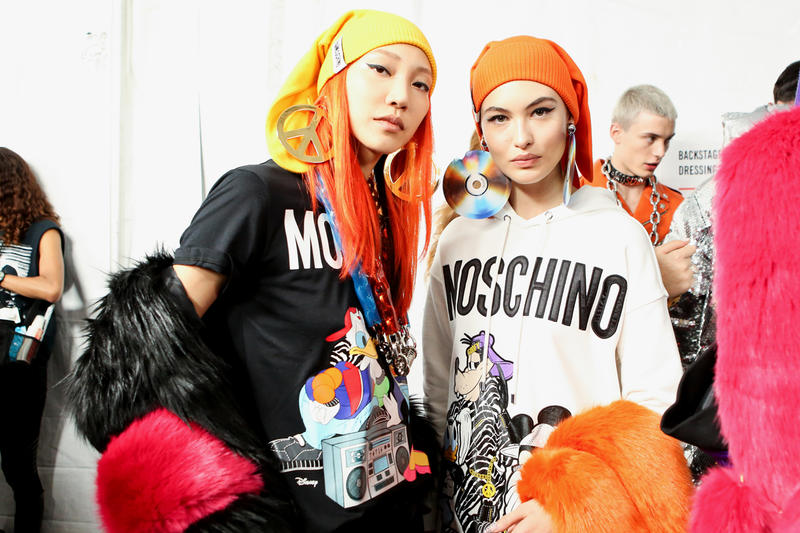 Moschino x H&M Collection Backstage Look Soo Joo Park Shirt Jacket Black