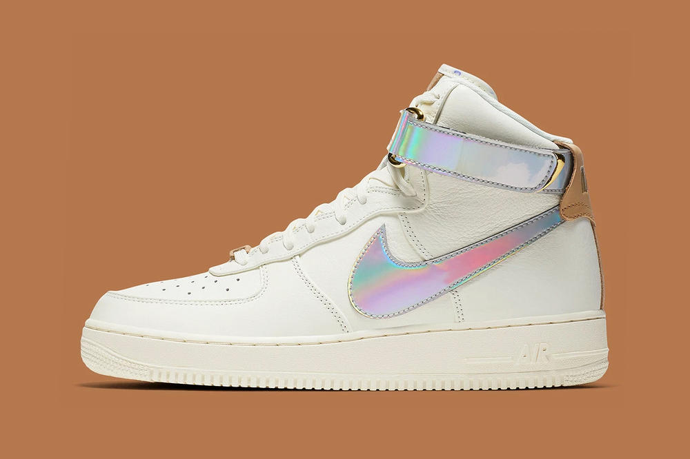 nike air force 1 high nai ke holographic iridescent shanghai the bund china