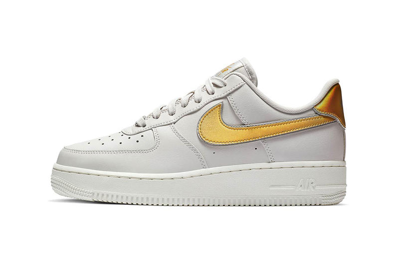 Nike Releases Air Force 1 Low With Metallic Swoosh  5f6e9c0b8
