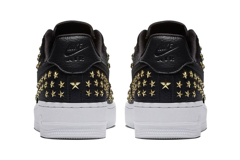 Nike Star Studded Air Force 1 Black White Trainers Sneakers Singles  Day  2018 577f995b083f