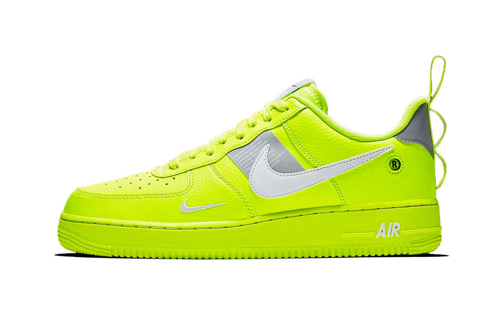 "Nike Air Force 1 Utility in ""Volt"" Sneaker Highlight Neon Yellow Green"