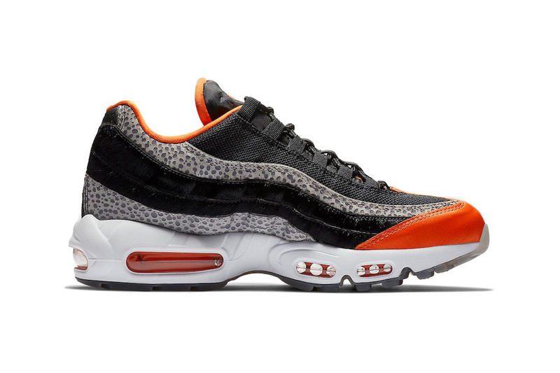 meet 201ad e3fa5 Nike Air Max 95 Safety Orange Black Grey Sneakers Trainers