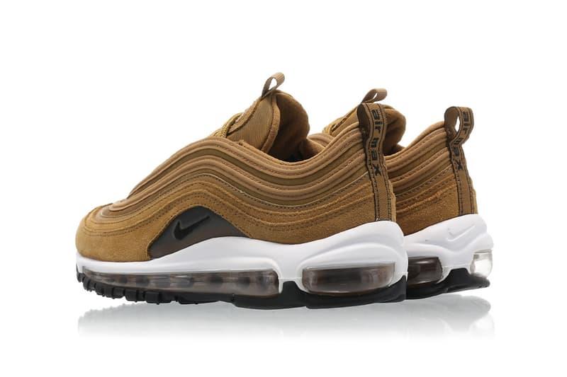 Nike Air Max 97 Suede Bronze Sneaker Shoe Trainer White Swoosh Fall Winter