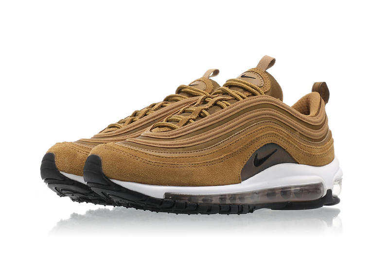 5b147c9424d0 Nike Air Max 97 Suede Bronze Sneaker Shoe Trainer White Swoosh Fall Winter