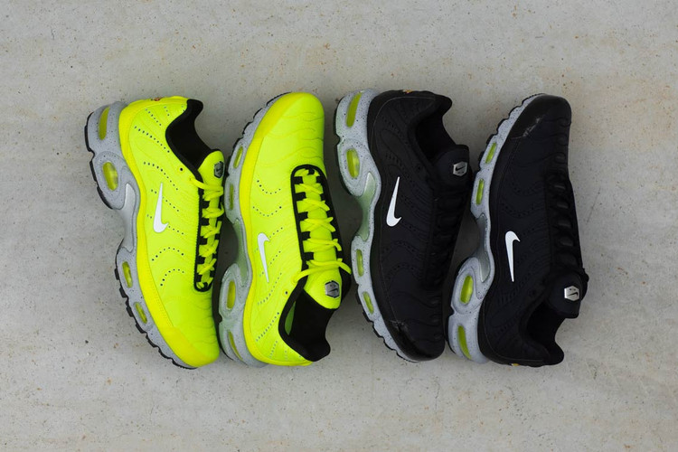 1cb36b51e269b3 Nike s Air Max Plus Premium Pack Is Spiked With Neon Accents