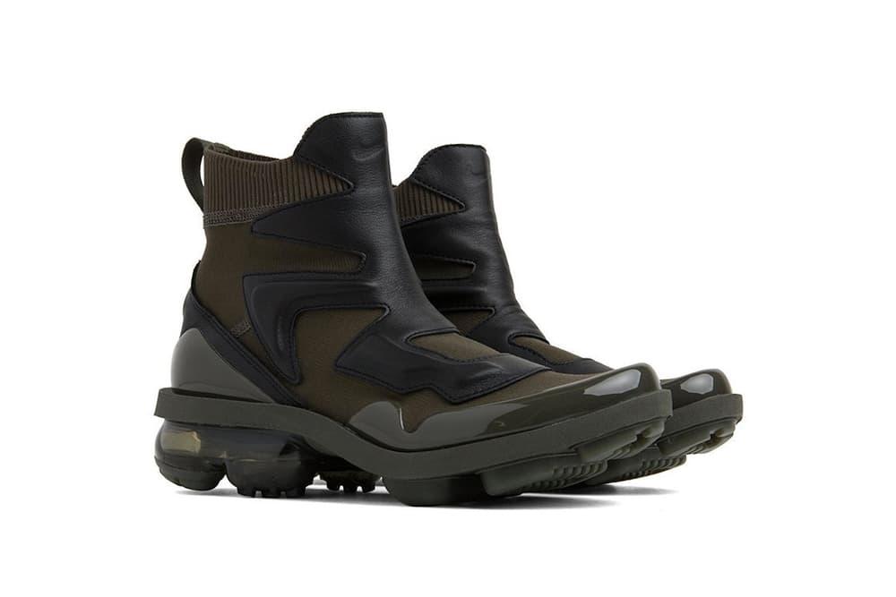 7ec85fcc58 Nike Air VaporMax Light II Black Khaki Boots Fall Winter Shoe Sneaker Hybrid