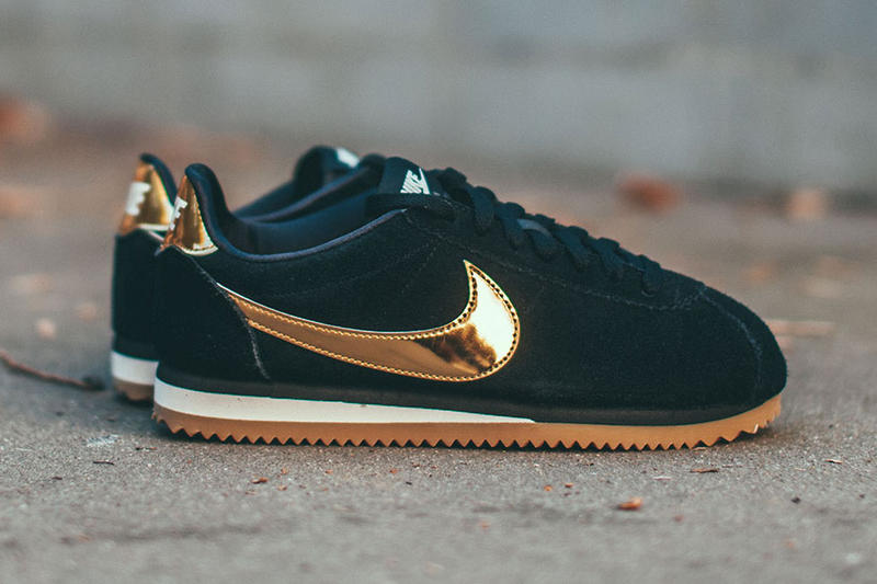 the best attitude 0b62f 240a1 Nike Classic Cortez SE Black Gold