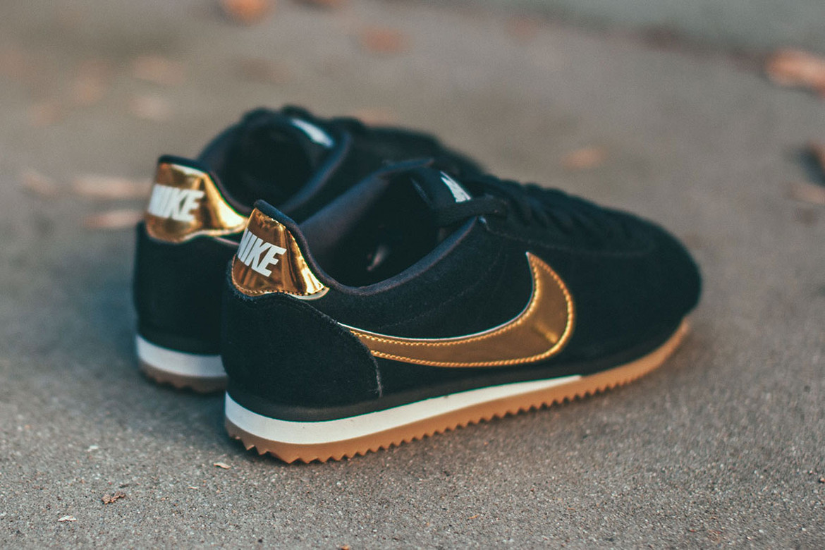 info for 60984 ec2e2 Nike's Cortez SE Arrives in Black and Gold | HYPEBAE