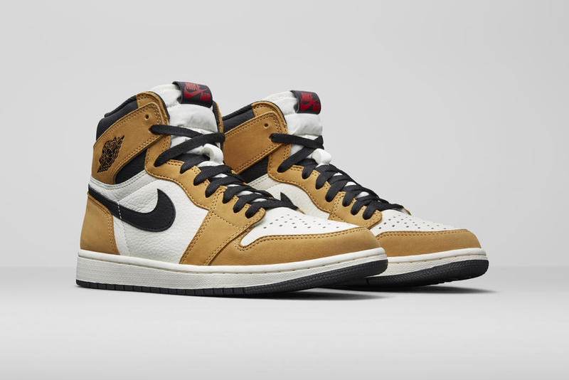 Jordan Brand Holiday 2018 Women's Styles AJ1 Rookie of the Year Harvest Gold Black