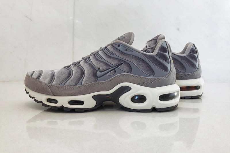 nike air max plus lx velvet gunsmoke review hypebaekicks grey 3a261ca30