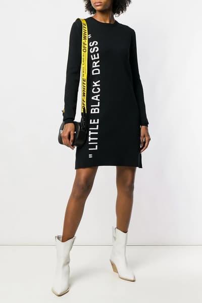 "Off-White™ Drops a New ""LITTLE BLACK DRESS"" Virgil Abloh Design Fashion"