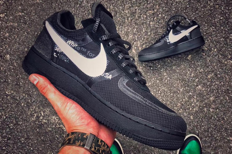 Off-White Virgil Abloh Nike Collaboration Air Force 1 Black Release Info