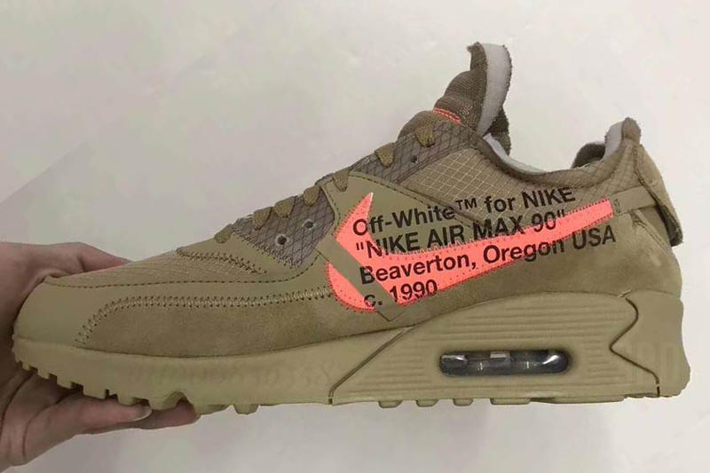 wholesale dealer f49cf 4a78f Off White Nike Air Max 90 Desert Ore