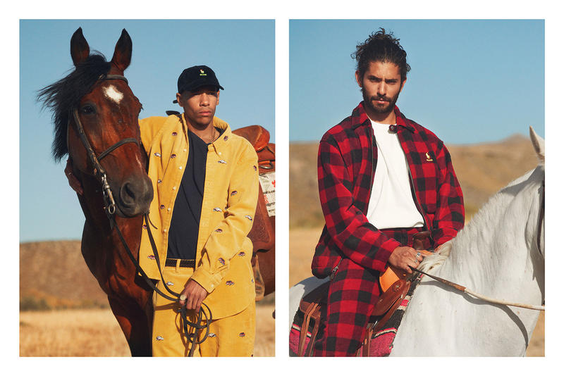 Palace Skateboards x Polo Ralph Lauren Collection Lookbook Corduroy Top Trousers Yellow Checkered Shirt Pants Red Black