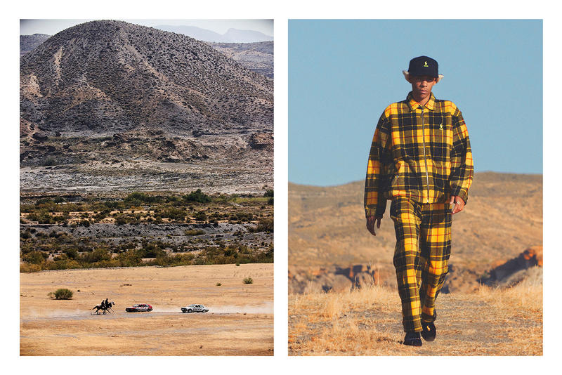 Palace Skateboards x Polo Ralph Lauren Collection Lookbook Checkered Shirt Trousers Yellow Black