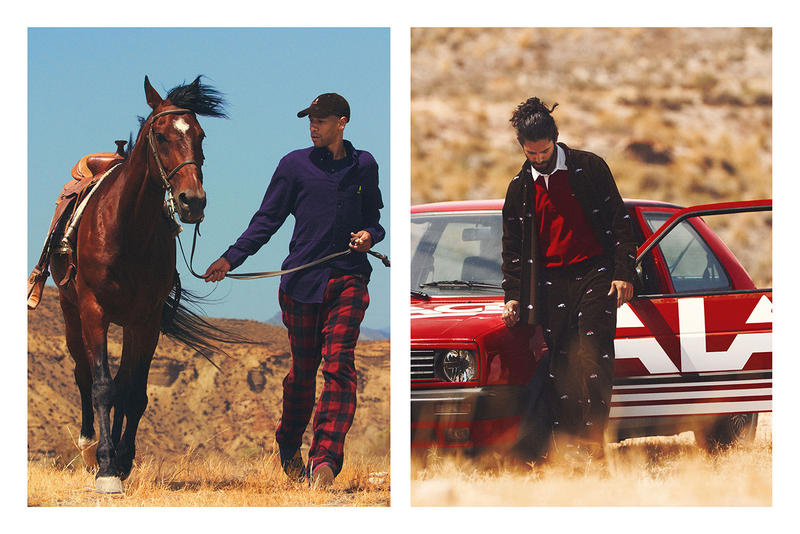 Palace Skateboards x Polo Ralph Lauren Collection Lookbook Collared Shirt Purple Trousers Red Black Corduroy Jacket Pants Brown