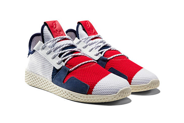 6f4f5e02960624 Pharrell adidas Originals by Billionaire Boys Club Pack Tennis Hu White Red