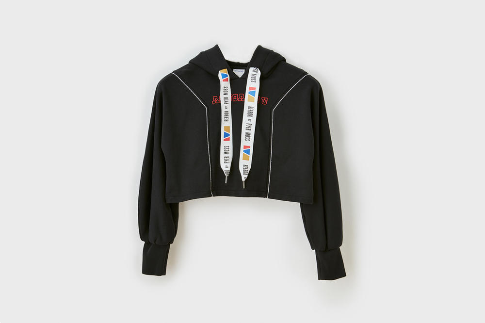 Pyer Moss x Reebok Fall Winter 2018 Collection 1 Cropped Hoodie Black
