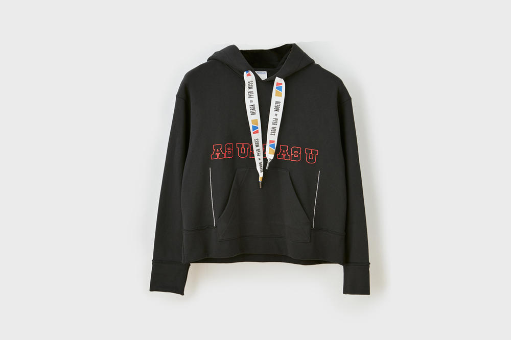 Pyer Moss x Reebok Fall Winter 2018 Collection 1 Boxy Hoodie Black