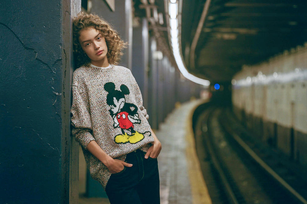 rag & bone x Disney Mickey Mouse Collection Sweater Grey
