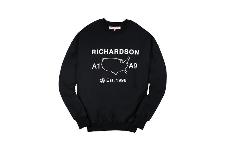 Richardson Magazine Capsule Collection A9 Crewneck Black