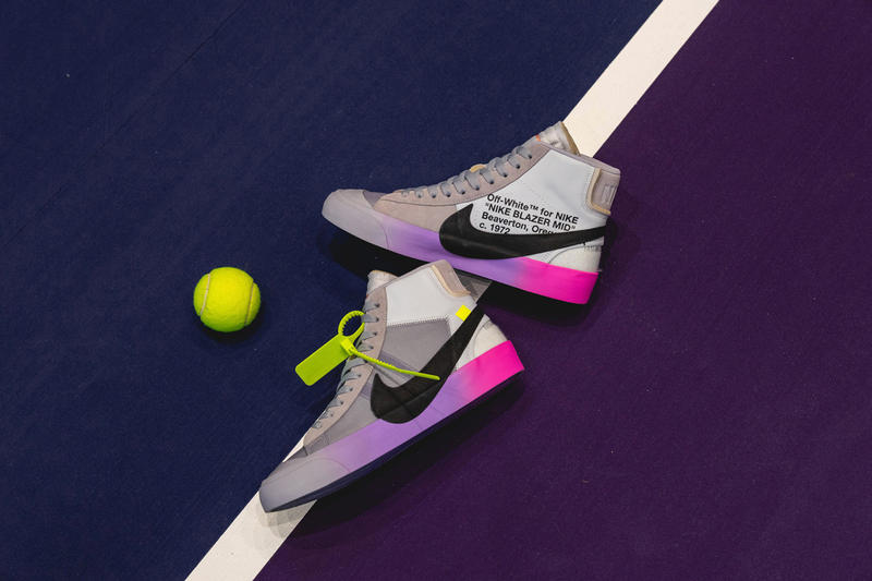 Serena Williams Off-White x Nike Blazer Wolf Grey