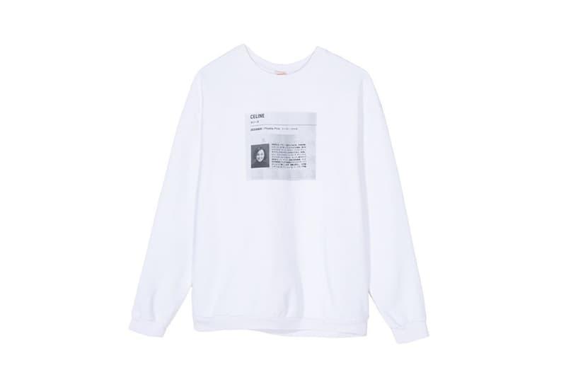Sporty & Rich Celine Phoebe Philo Sweatshirt White Print Homage Restock