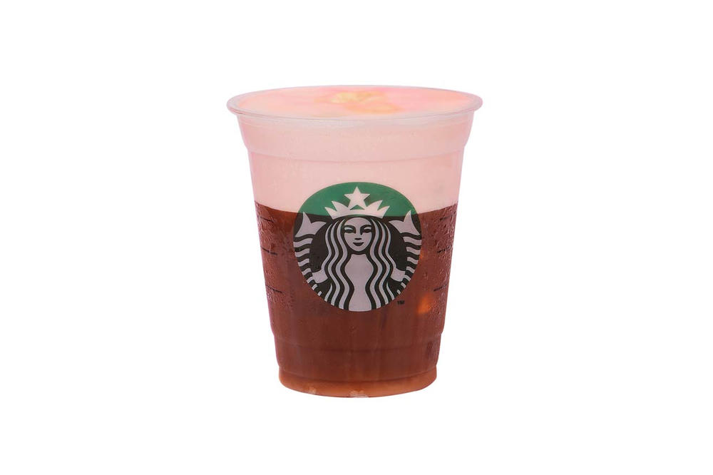 Starbucks Indonesia PINKVOICE Iced Pink Macchiatto Strawberry Cold Foam Iced Espresso Fantasia Yogurt Frappuccino