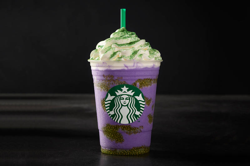 Starbucks Halloween Witch's Brew Frappuccino Green Purple Drink USA Mexico Canada Caribbean