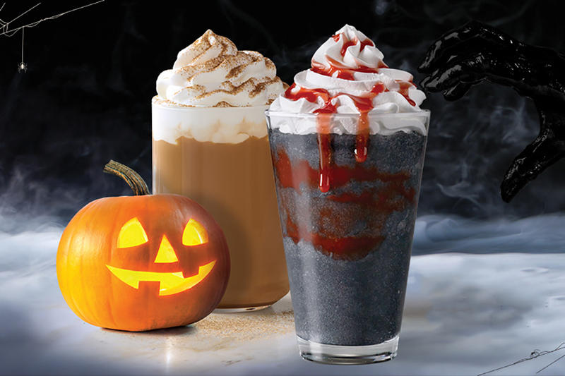 Starbucks Black Zombie Frappuccino Drink Singapore Halloweeen