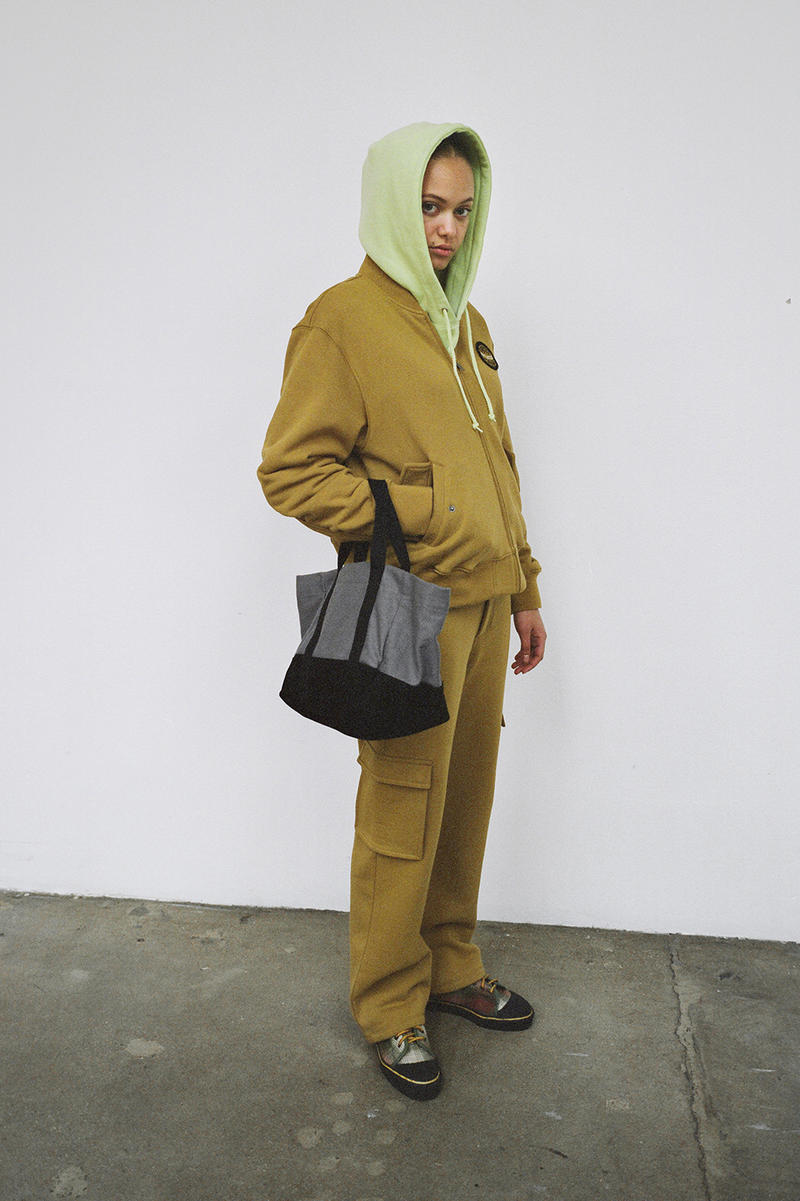 Stussy Women's Holiday 2018 Collection Lookbook Hoodie Green Jacket Pants Brown