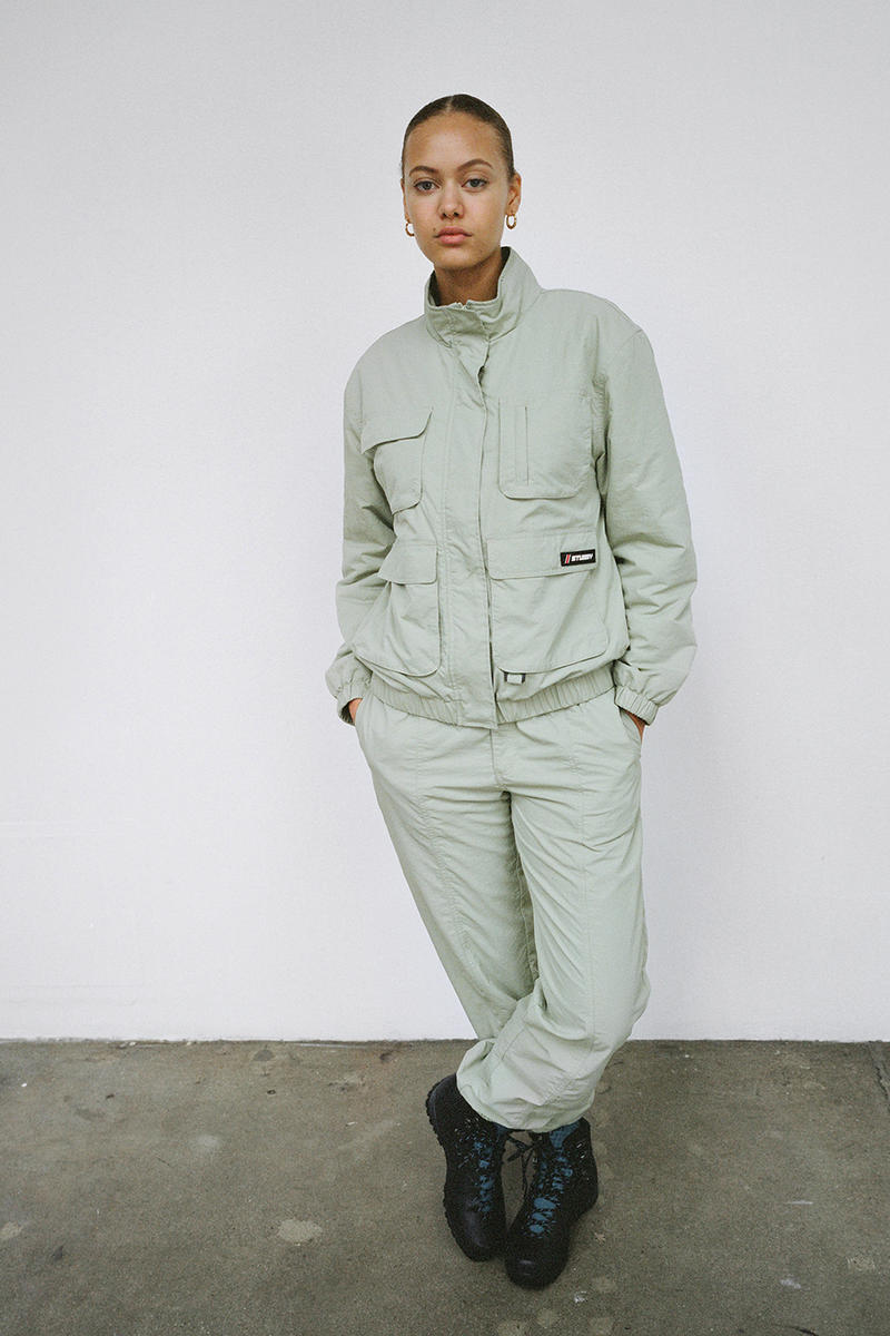Stussy Women's Holiday 2018 Collection Lookbook Track Suit Green