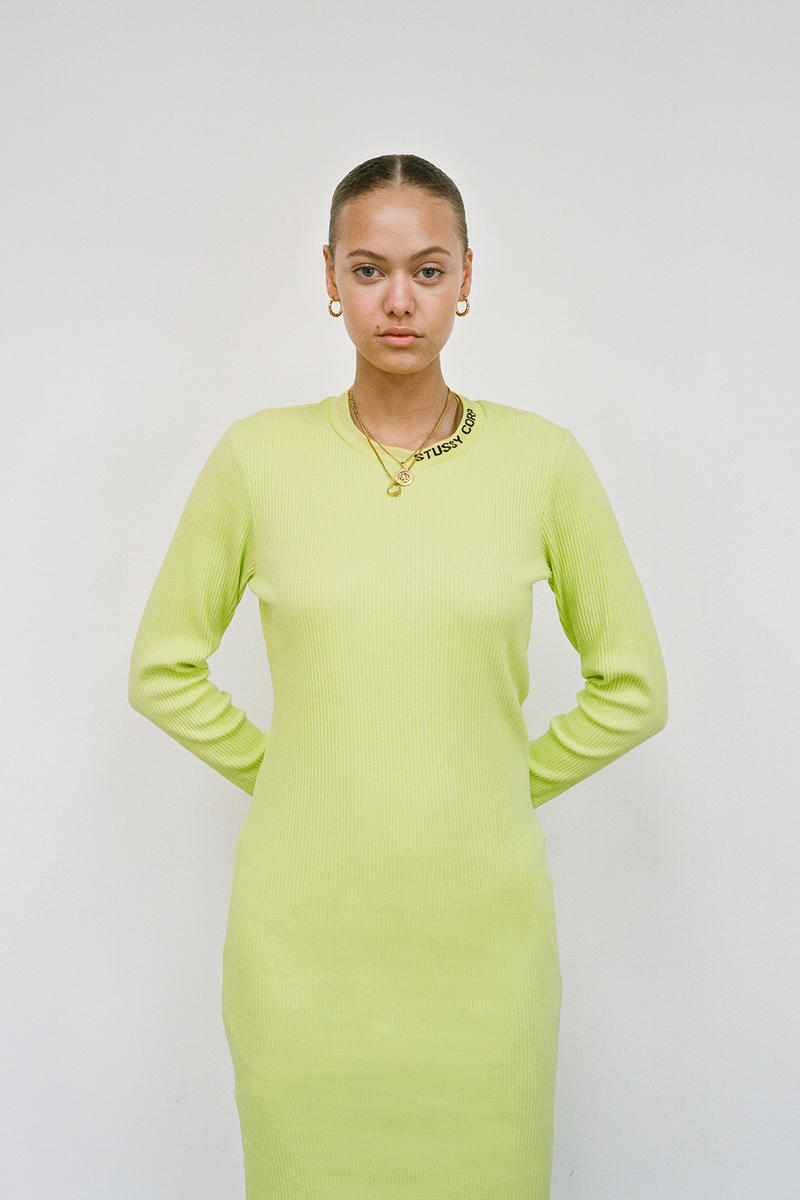 Stussy Women's Holiday 2018 Collection Lookbook Dress Bright Green