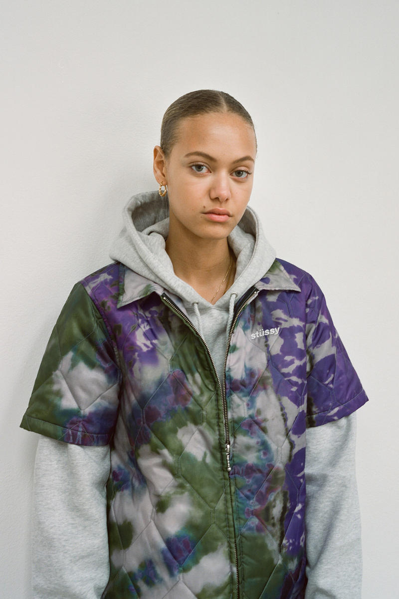 Stussy Women's Holiday 2018 Collection Lookbook Jacket Grey Purple Green