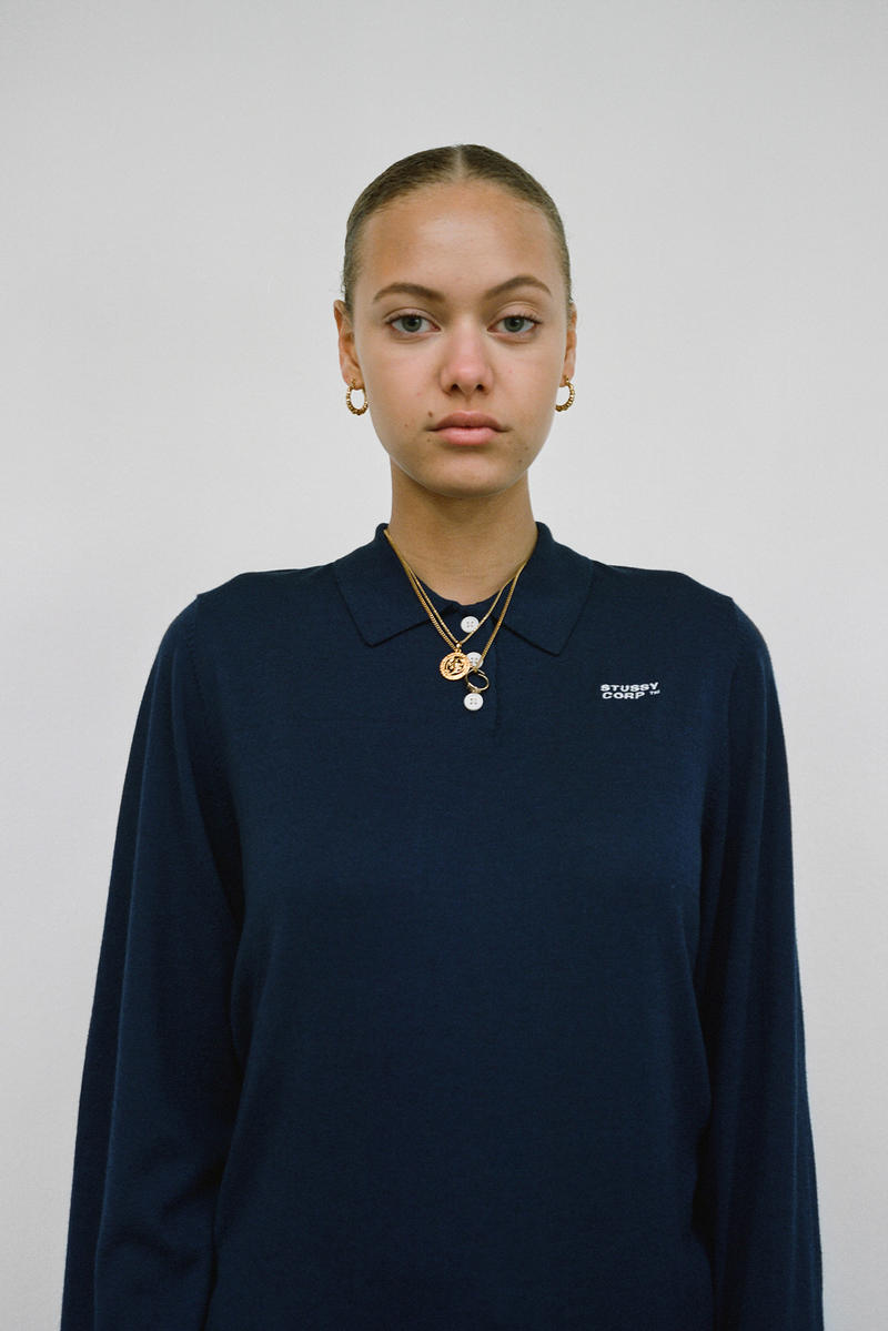 Stussy Women's Holiday 2018 Collection Lookbook Logo Top Blue