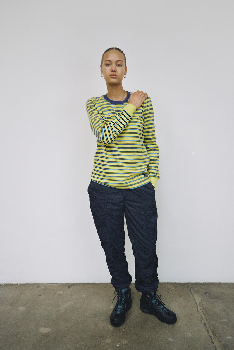 Stussy Women's Holiday 2018 Collection Lookbook Dress Striped Top Green Blue
