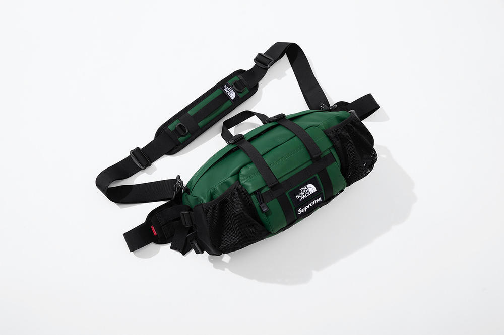 Supreme x The North Face Fall 2018 Leather Collection Mountain Waist Bag Green