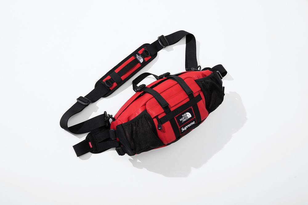 Supreme x The North Face Fall 2018 Leather Collection Mountain Waist Bag Red
