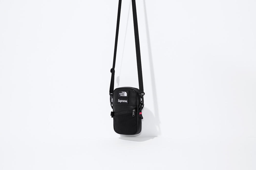 Supreme x The North Face Fall 2018 Leather Collection Mountain Shoulder Bag Black