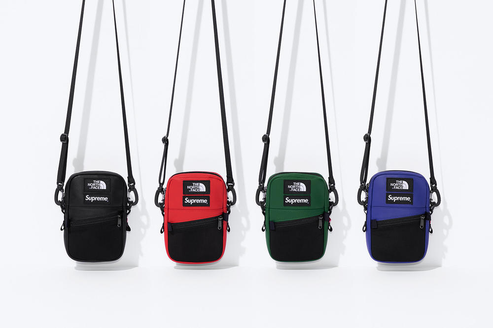 Supreme x The North Face Fall 2018 Leather Collection Mountain Shoulder Bag Black Red Green Purple