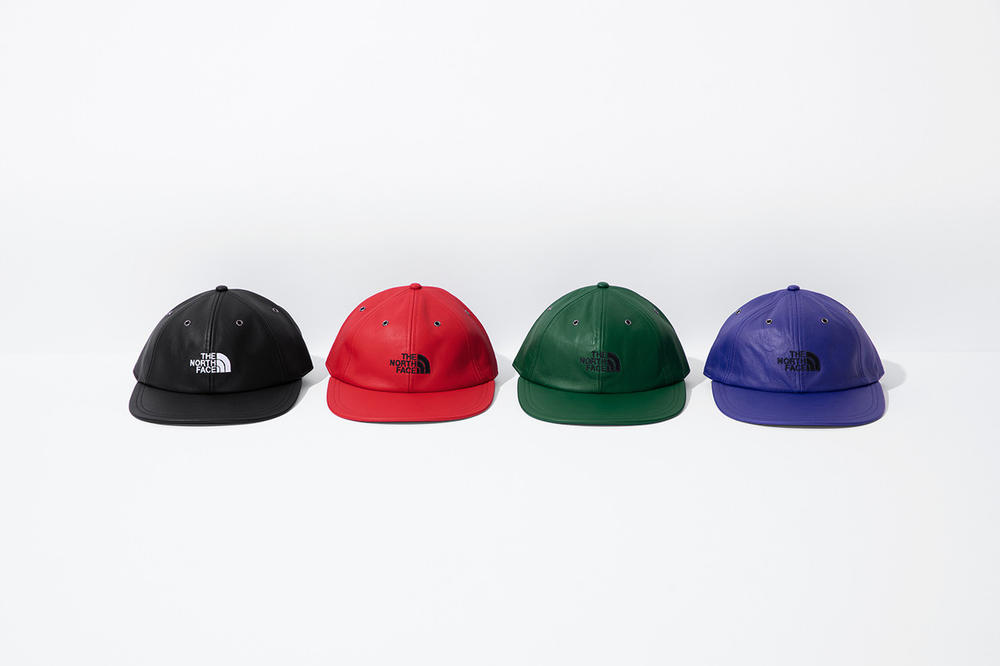 Supreme x The North Face Fall 2018 Leather Collection Six Panel Cap Black Red Green Purple