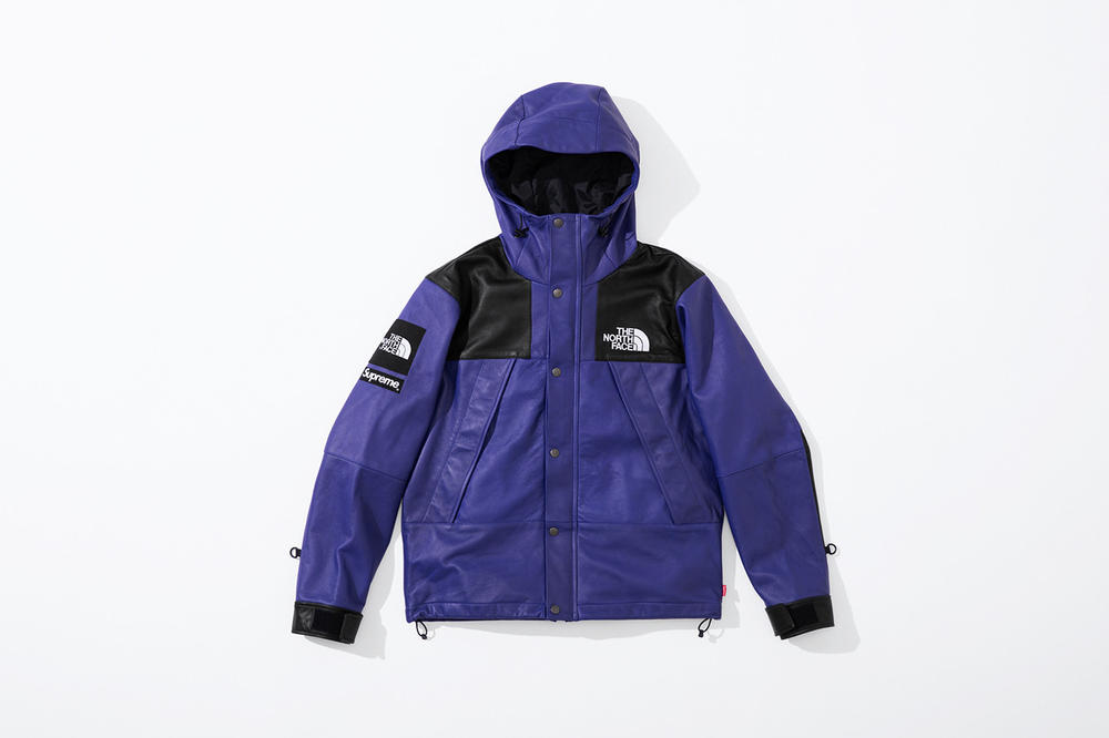 Supreme x The North Face Fall 2018 Leather Collection Mountain Parka Purple