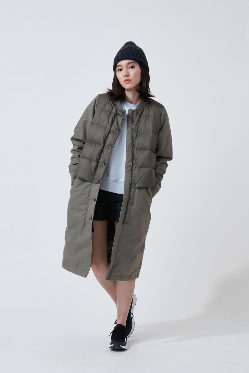 The North Face Urban Exploration Black Series Fall Winter 2018 Jacket Green Top White Skirt Black