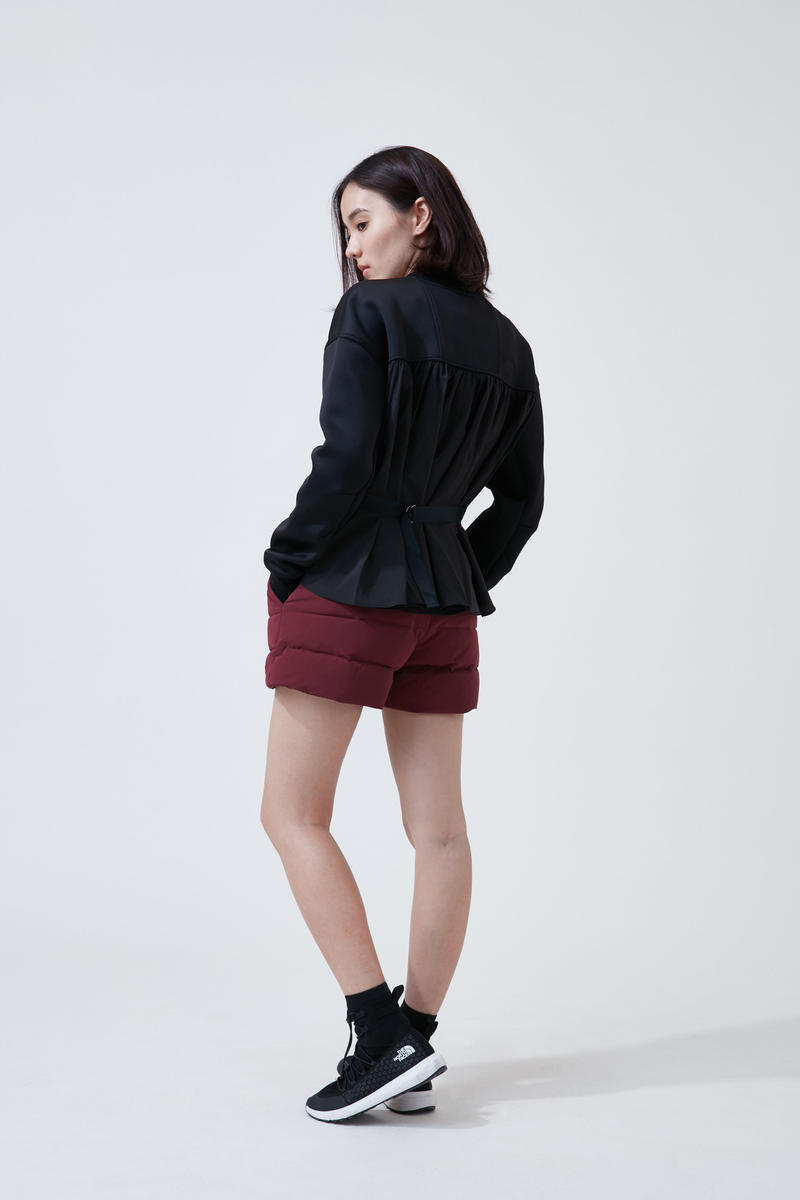 The North Face Urban Exploration Black Series Fall Winter 2018 Jacket Black Shorts Maroon