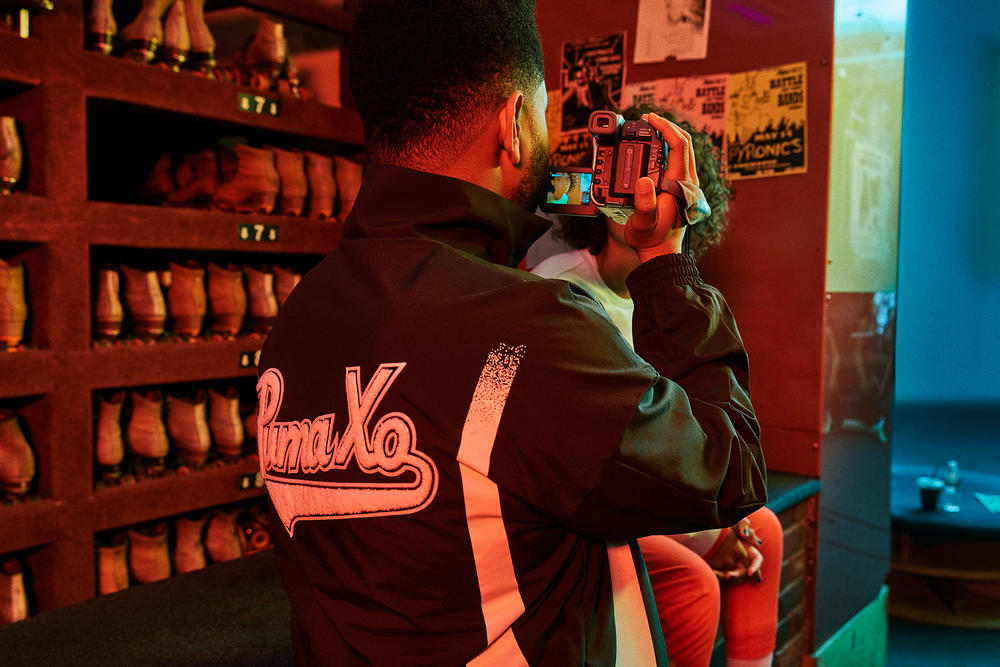 the weeknd xo puma terrain fall winter collaboration drop 1 90s archive track pants beanie backpack jackets bomber