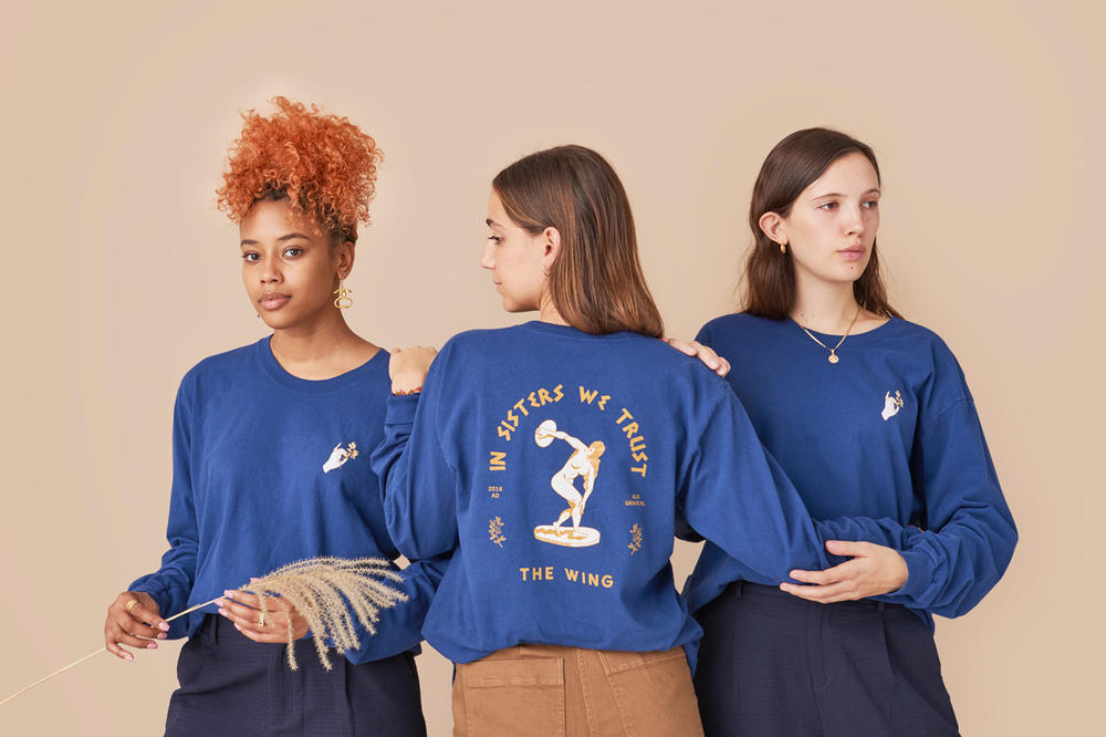 The Wing Fall 2018 In Sisters We Trust Long Sleeve Tee Blue
